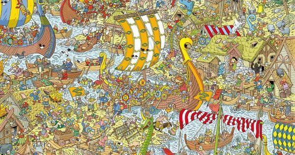 Pin by Klim-Op on Waar is Wally?   Pinterest