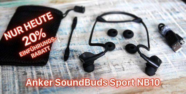 Anker SoundBuds Sport NB10: wasserfestes Bluetooth Fitness Headset - https://apfeleimer.de/2016/08/anker-soundbuds-sport-nb10-wasserfestes-bluetooth-fitness-headset - Anker SoundBuds Sport NB10 Fitness Bluetooth Kopfhörer mit 20% Einführungsrabatt! Ab heute ist das Anker SoundBuds Sport NB10 Bluetooth Headset im Handel erhältlich und zum Launch gibt's fette 20 Prozent Rabatt auf die Kopfhörer. Der Spezialist für Akkus und Ladegeräte Anker drängt in den M...