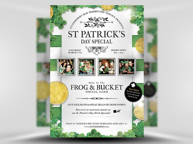 Best St PatrickS Day Flyer Templates Images On