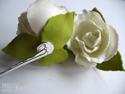 ProjectGallias: Flower hair accessories, hairpin 100%handmade, Kwiatowa spinka, wsuwka. Rękodzieło