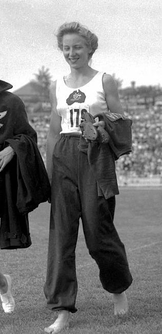 Shirley Strickland-during 1956 Olympics-Clandestine communication channels were sought to get information into and out of the Olympic camp. Australian star sprinter, Shirley Strickland, was charged with secreting letters from expat Hungarians to athletes in the Olympic Village.