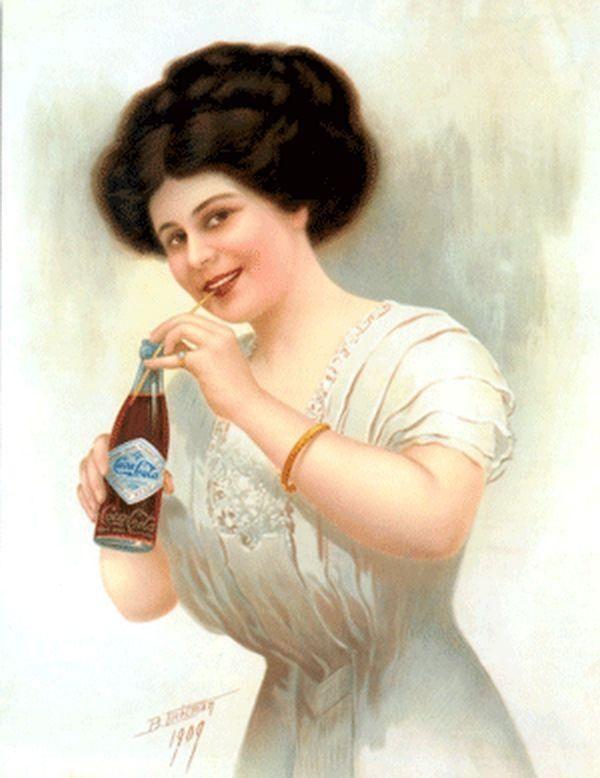 Ancient Coca-Cola Girls   ......Con il termine Gibson Girl (ragazza Gibson) si intendeva un'idea di bellezza femminile creata dall'illustratore Charles Dana Gibson in circa venti anni di disegni, alla fine del XIX secolo e all'inizio del XX secolo.