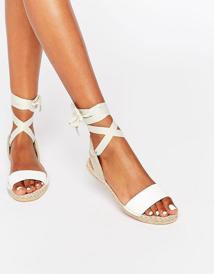 New+Look+Espadrille+Tie+Up+Flat+Sandal