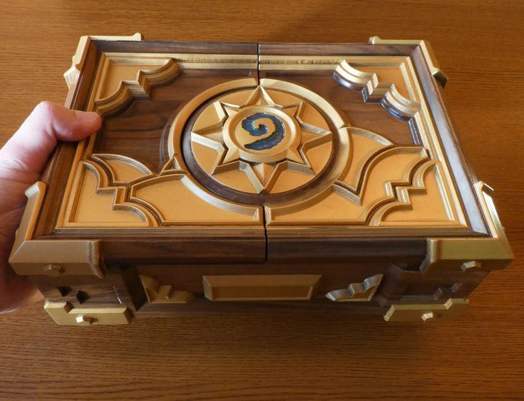 Custom Premium HS Box Replica Personalized Wooden Сasket http://etsy.me/2nIbfPJ #jewelry #brown #hearthstone #hs #hsbox #box #hearthstonebox #wooden #premium #wood #walnut #woodworking #love #birthday #idea #gift #warcraft #card #game #ccg #etsy #buy #online