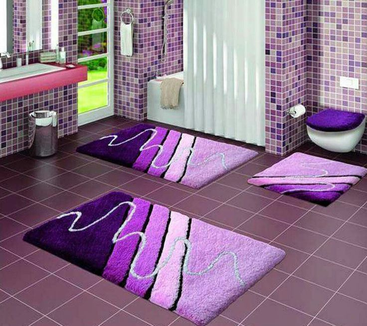 Love these rugs 💜 Purple bathroom rug, Purple bathrooms, Pai