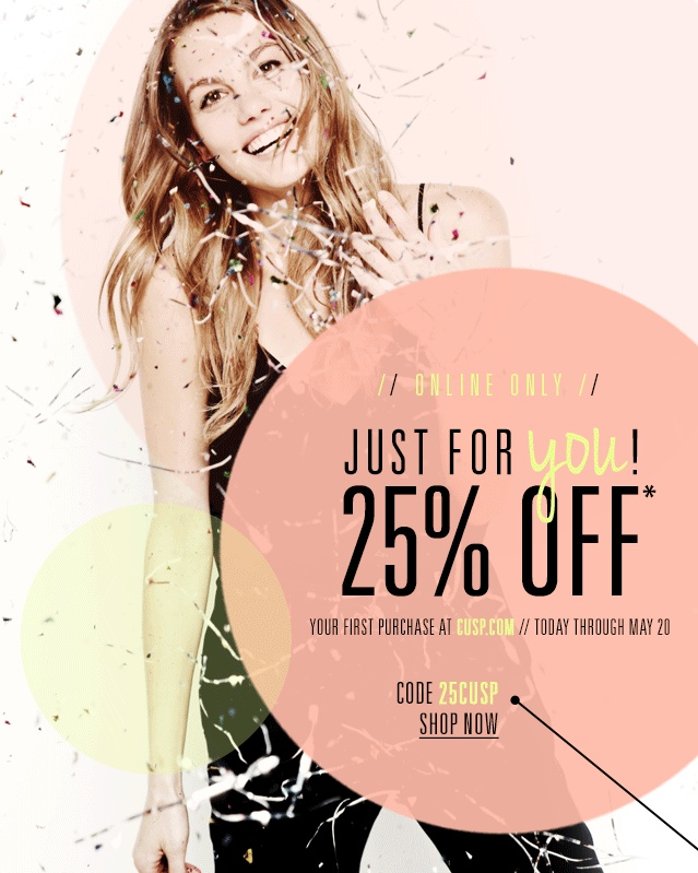 Cusp - Get 25% Off Your First Purchase!