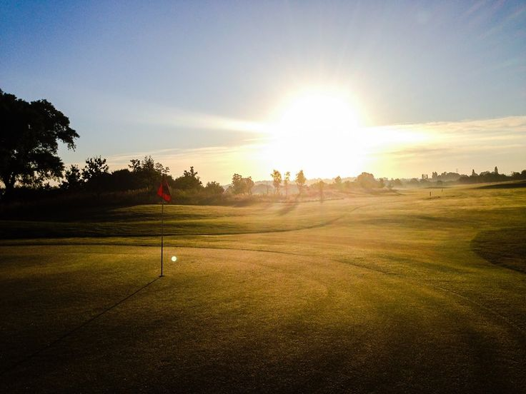 Sunrise over the course