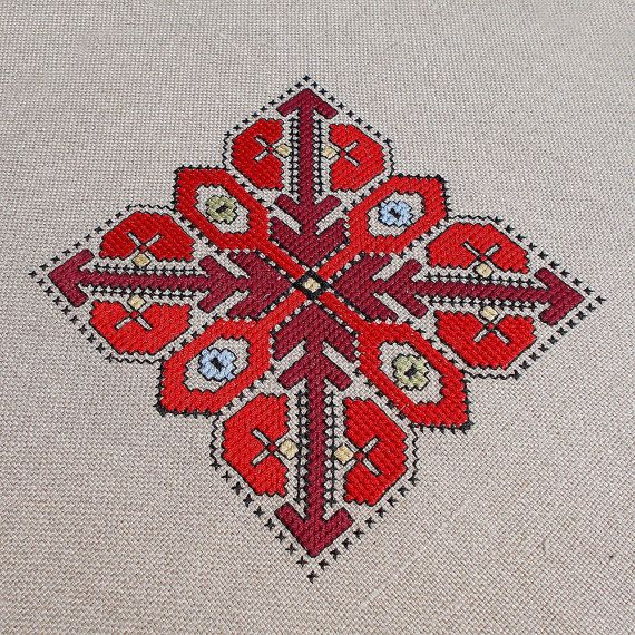 Hand embroidered table runner hand embroidered table by RugsNBags