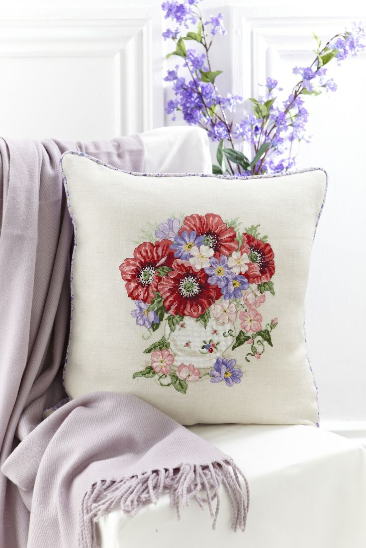 Lesley Teare's poppy cushion offers up a splash of colour! Read about how to stitch this design in CSC's September issue: http://www.myfavouritemagazines.co.uk/stitch-craft/cross-stitch-collection-magazine-back-issues/cross-stitch-collection-september-13/
