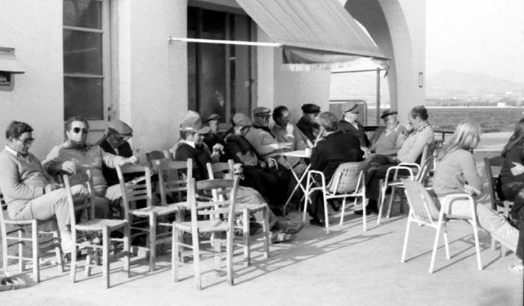This is where all the older men like to go and spend their days with friends at the kafenio. #Paros #Greece #Beautiful #Old #Vintage #Vacation #Summer #Greek #Culture #Cafe #Cafenio #Kafenio
