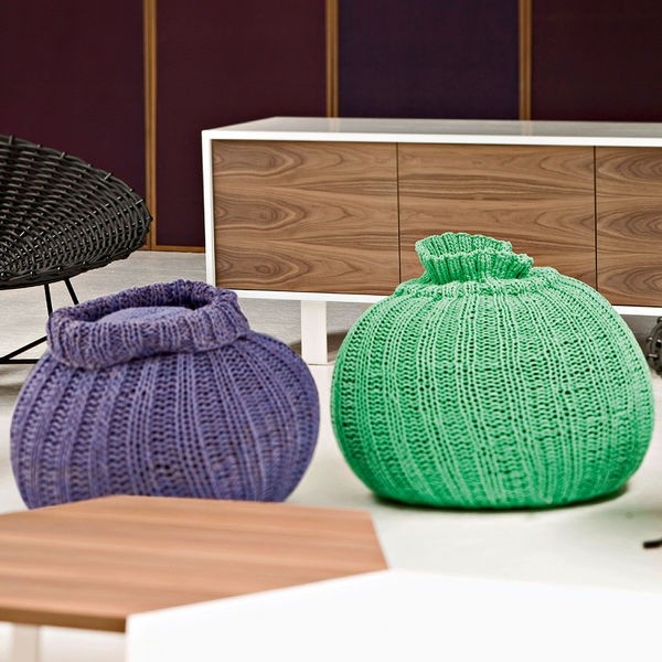 Great Sweet 40 Pouf With Knitted Cotton Cover, Paola Navone Photo