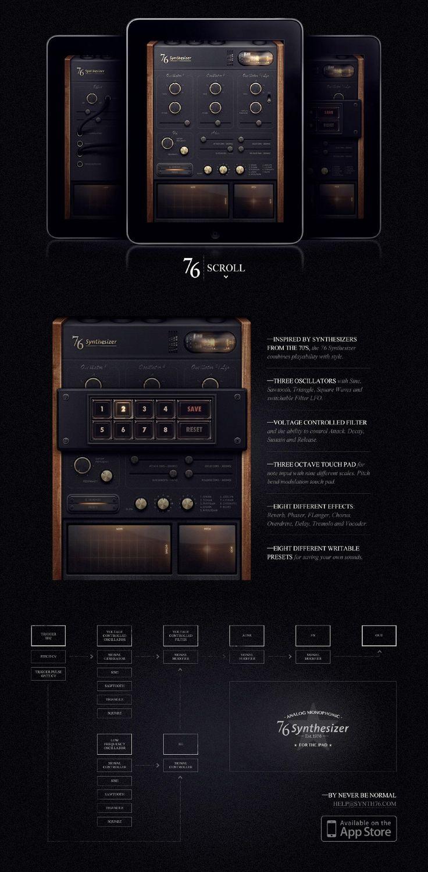 Retro Synthesizer App UI