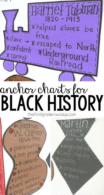 Black History Month anchor charts and more!