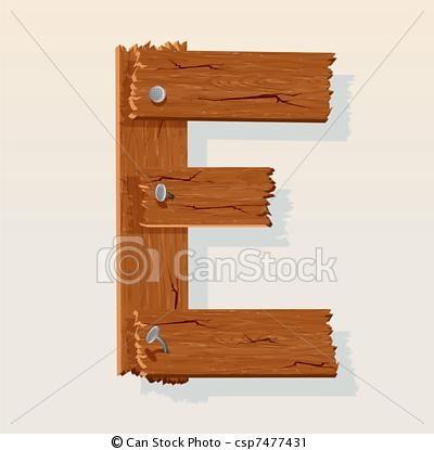 http://www.canstockphoto.com/letter-e-from-vector-wooden-alphabet-7477431.html