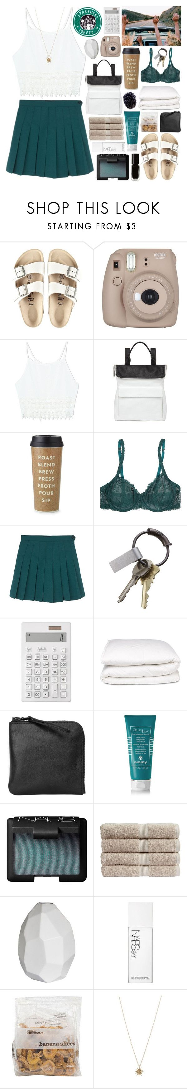 """""""Temporary Escape"""" by lucidmoon ❤ liked on Polyvore featuring moda, Birkenstock, Whistles, Kate Spade, Cosabella, CB2, Muji, Selfridges, Xenab Lone i Sisley - Paris"""