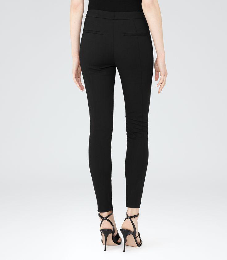 Womens Black Skinny Tailored Trousers - Reiss Darlas