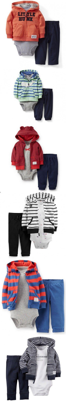 2016 Fashion Original Baby Boy Clothes Winter Suit Newborn Baby boyl Winter Clothes Hooded Baby Clothing 3 Pcs