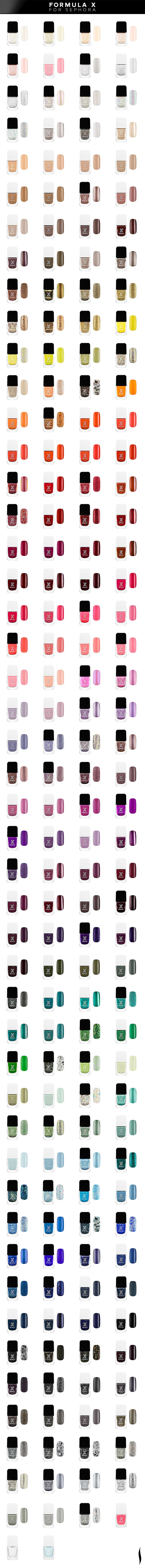 ~Introducing the next in nail: Formula X for Sephora. More than 190 shades of unstoppable effects for the ultimate nail domination   House of Beccaria