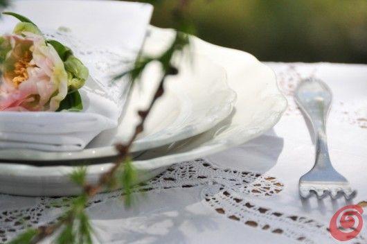 lovely white wedding white plates vintage wedding peonies