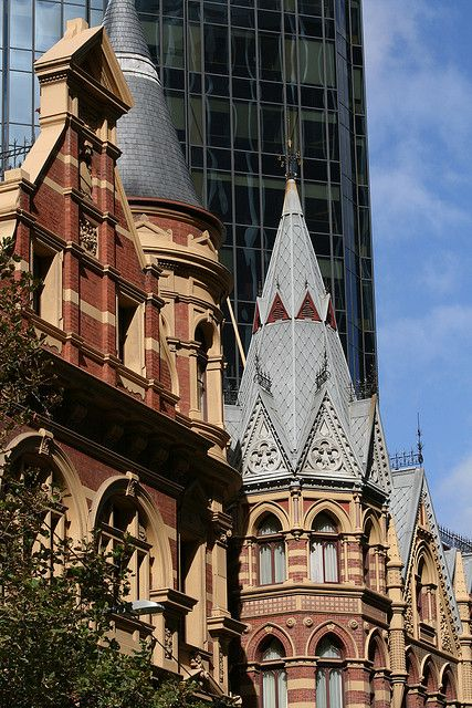 Victorian architecture on Collins Street, Melbourne, Australia | by erikaland, via Flickr.
