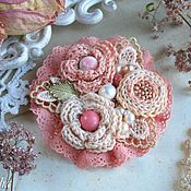 """Украшения ручной работы. Ярмарка Мастеров - ручная работа """"Розовый коралл""""  брошь. Handmade."""