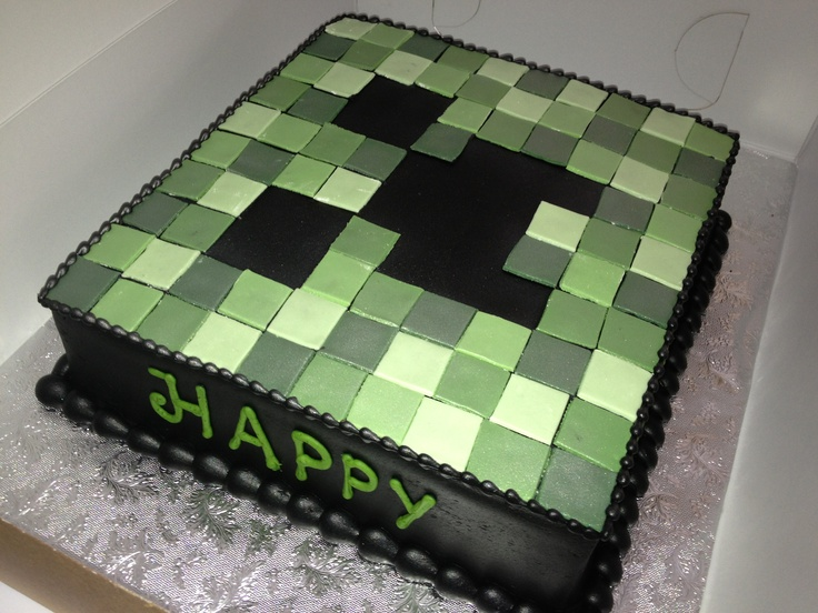 Mine craft creeper cake