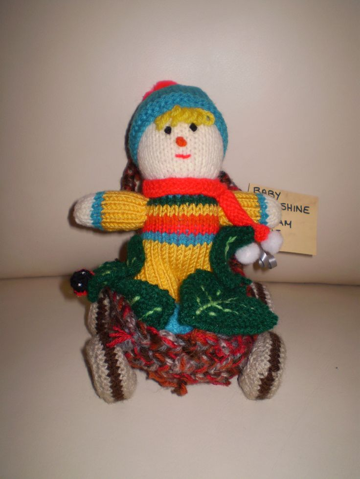 Here is Baby Sunshine complete with pram. 15 cms high. There are many more in my collection and they can be made to order. If you want Luigi or Mario let me know.