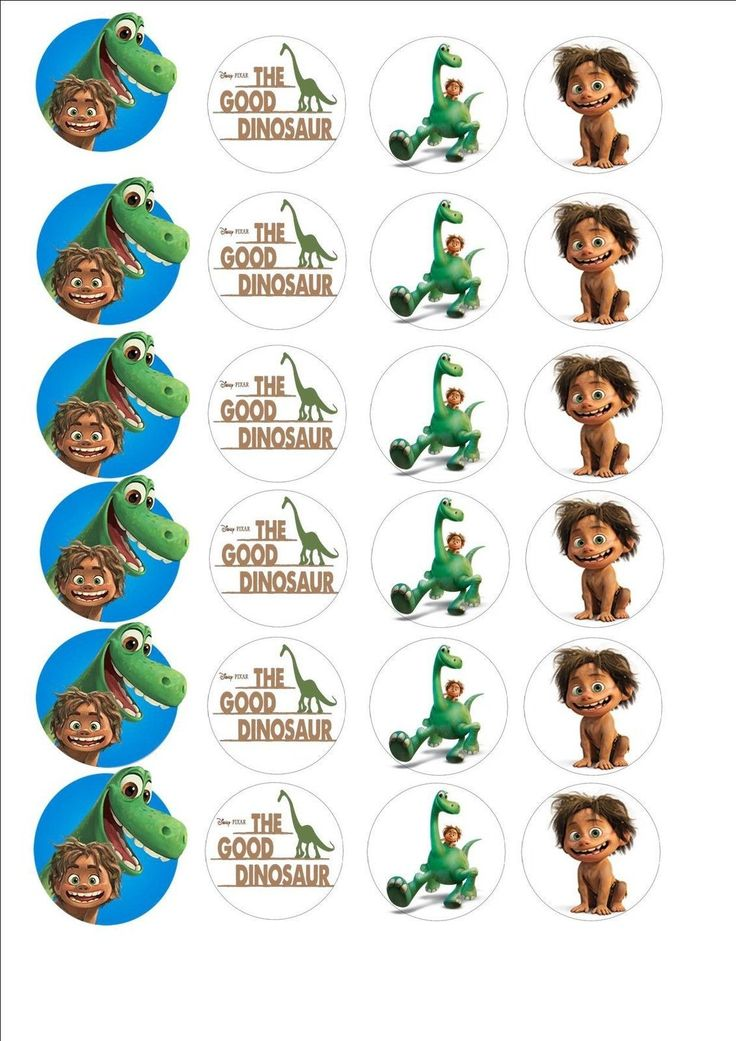 The Good Dinosaur Fairy Cup Cake Decoration Toppers X 24