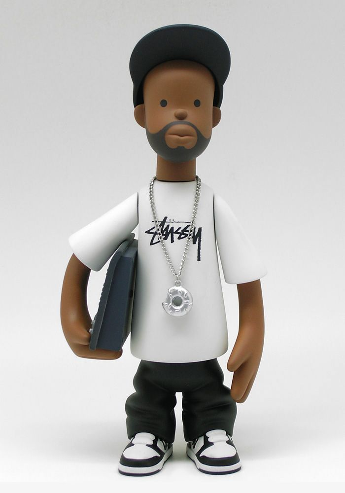 "Famed Detroit music producer J Dilla has been memorialized in the form of a 7.5"" tall designer toy! This figure designed by the artist Sintex, sculpted by the toy artist P2PL, and is a collaboratio..."