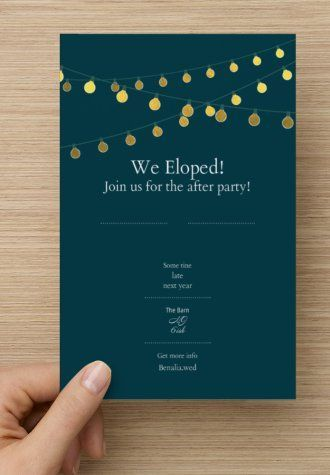 Love This Simple And Fun Post Reception Destination Wedding Invitation Was Made For