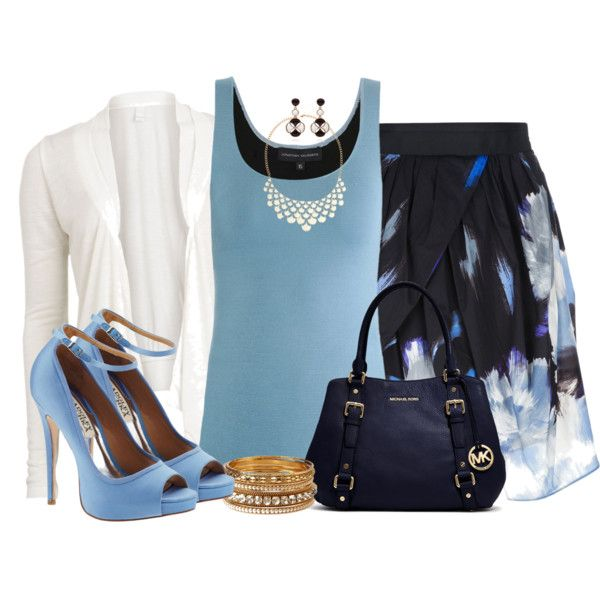 """Eggs Skirt - Blue Bliss"" by angelysty on Polyvore"