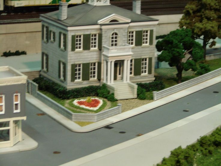 Whithern Historical House' Hamilton  Our Home and Miniature Land-(O.H.M.L.) HO Scale