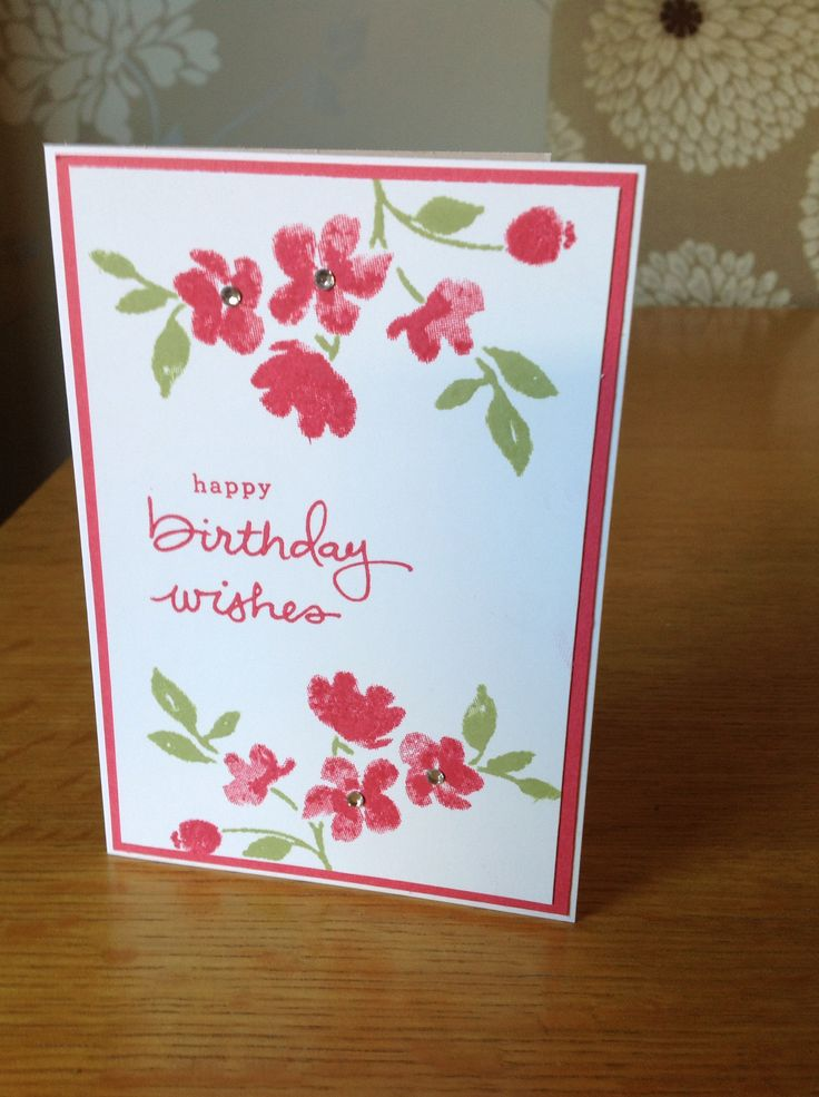 Stampin Up! - painted petals and endless birthday wishes