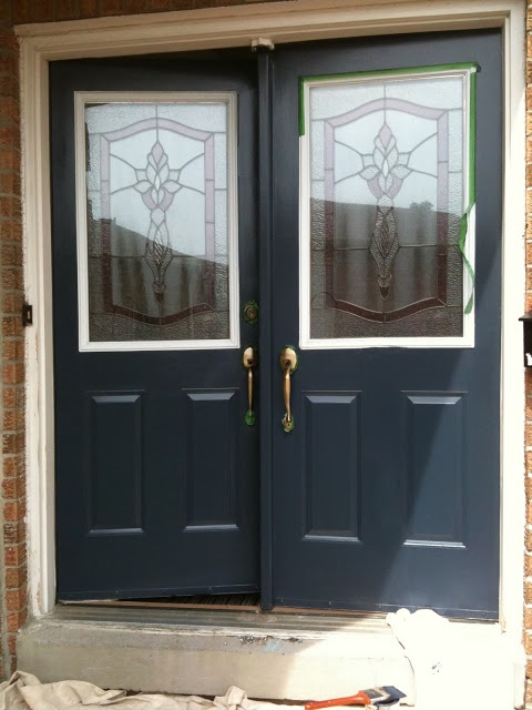 Hale Navy Front Doors In The Shade Curb Appeal