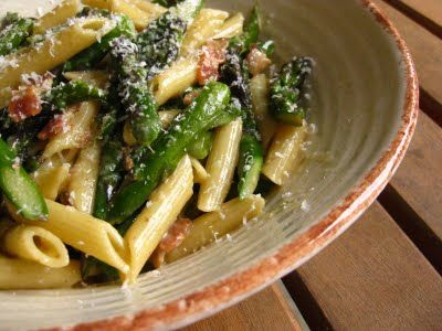 asparagus carbonara | Deliciousness | Pinterest