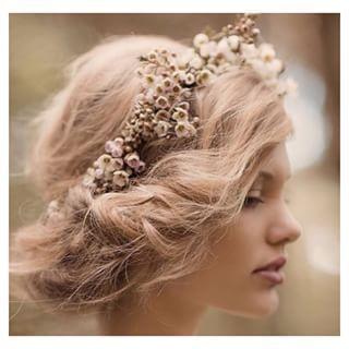 цветы, гирлянда, волосы, прическа, модель, приятное, высокая прическа