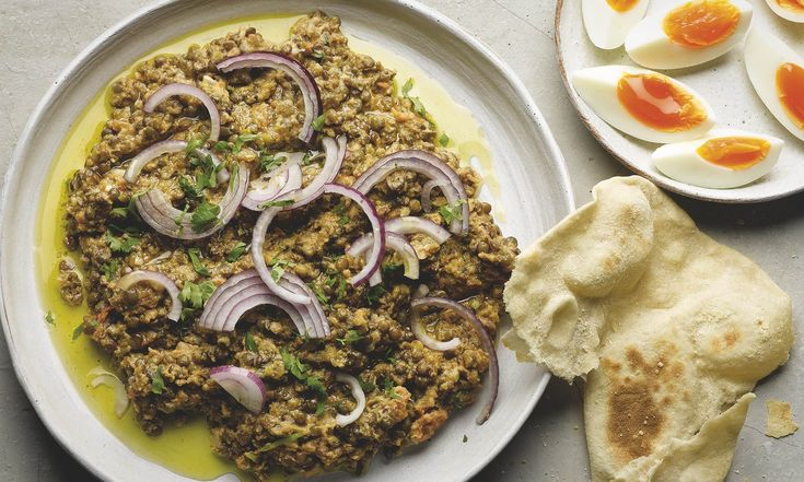 Yotam Ottolenghi's crushed puy lentils with tahini