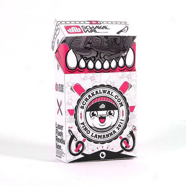 Smokin hot cigarette box schakalwal branding and illustration