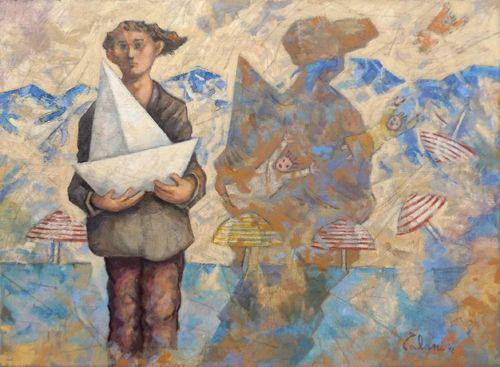 Giampaolo Talani Il mare sul muro