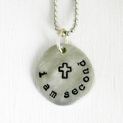 i am second faith necklace by justjaynes http