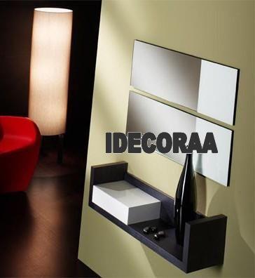 repisas espejos recibidores modernos