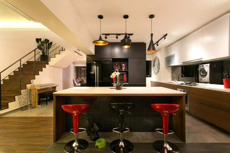 Singapore Hdb Kitchen Island Ubi Maisonette Finelinedesignstudio Fineline Design Studio