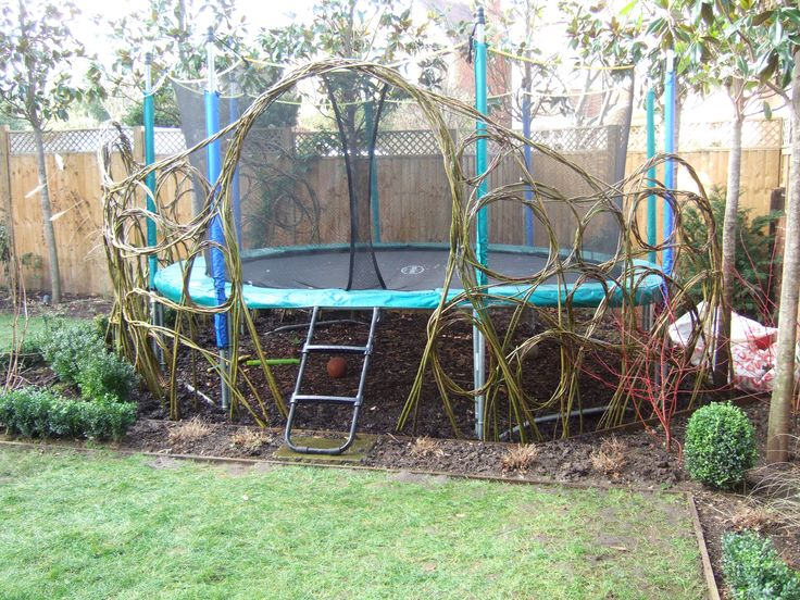 winter is willow dome time living willow fencewillow dometrampoline ideasdream gardengarden - Garden Design With Trampoline