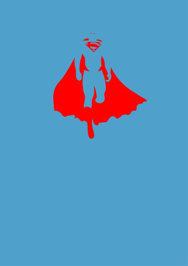 Super Hero Minimalist Posters by Michael Turner, via Behance
