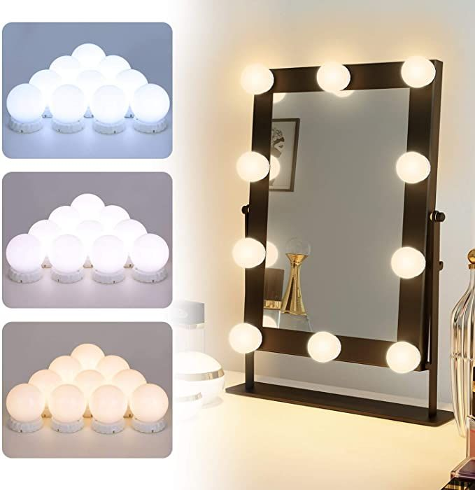 Vanity Mirror Lights Wall Mount Hollywood Style Led Vanity Lights With 10 Adjustable And Dimmable Led Bulbs Vanit In 2020 Led Vanity Lights Mirror With Lights Led Bulb
