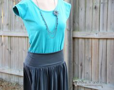 Women's Skirt with Yoga Style Waist Band   Make It and Love It