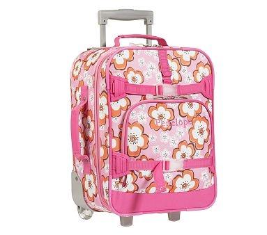 I Love The Small Mackenzie Girls Luggage Pink Hibiscus