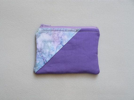 Purple Coin Purse Galaxy Fabric Purple and by 9thCycleCraftworks