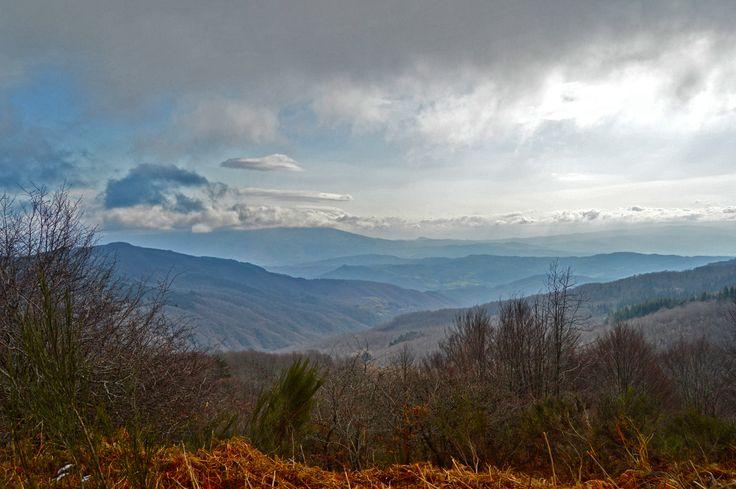 #panorama #landscape #tuscany #toscana #casentino #pratomagno