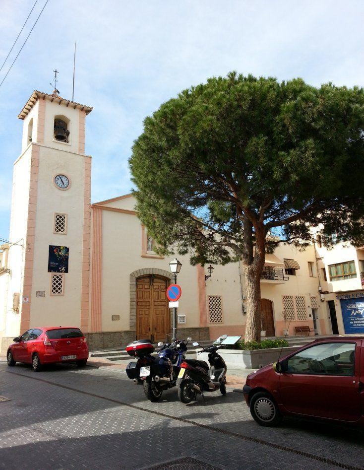 The square in Alfaz del Pi,  a Valencian town and municipality located in the comarca of Marina Baixa, in the province of Alicante, Spain, .